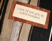 First Husband - Funny Greeting Card