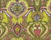Half yard - Tula Pink Prince Charming - Frog Prince in Olive cotton quilt fabric - mineymo