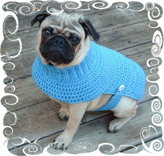 Crochet Xl Dog Sweater : Dog Sweater Crochet Pattern for Small Dogs