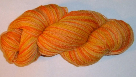 Hand painted Merino Wool Yarn Lace Weight CALENDULA
