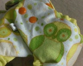 Fitted cloth diaper, flannel owls, cotton and hemp, quick-dry design, choose your size