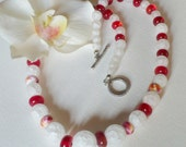 Jewelry, Lampwork beads and Cracked Quartz Necklace Set - Smokeylady54