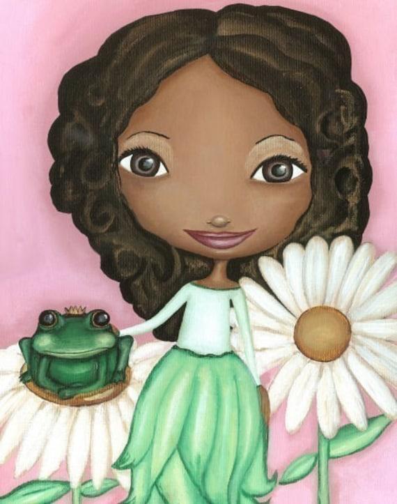 青蛙王子非裔美国人苗圃艺术