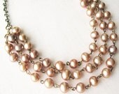 Caramel Pearl Multi-Strand Necklace - pulpsushi