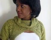 Katya Fashion Crochet Shrug Pattern - Green - Gift Idea