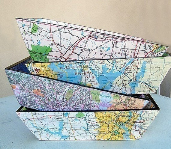 Custom Map Tray - Large. 11 Diy-able Ideas For Using Maps and Mod Podge. Simplicity In The South.