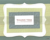 Handmade Stamped Card Set of 4 Thank You Friendship - creativedesigns