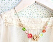Posy Flower Statement Necklace