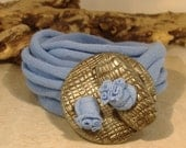 Wrap Bracelet - Cuff- Wrap Around - Necklace - Anklet - Textured Toggle