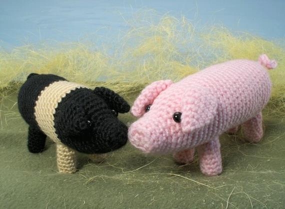 Farmyard Pigs amigurumi PDF CROCHET PATTERN