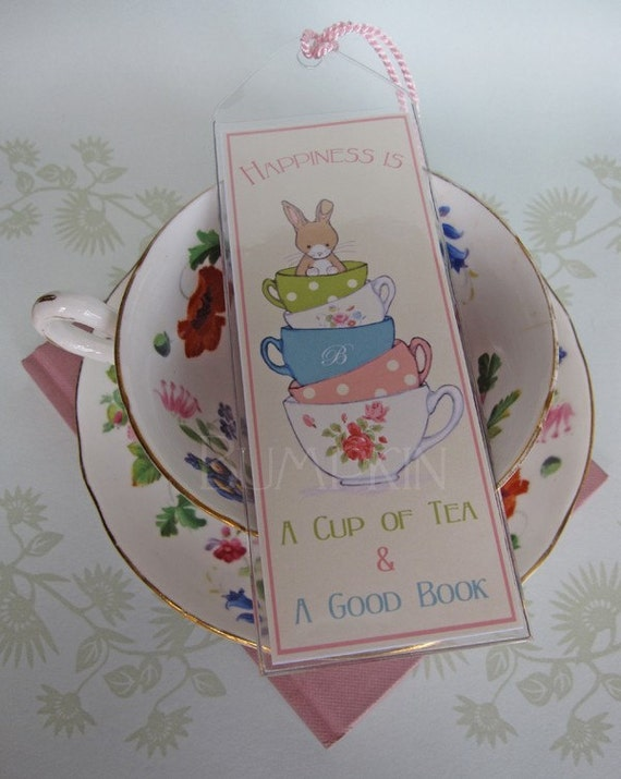 Bookmark - Happiness is A Cup of Tea and A Good Book