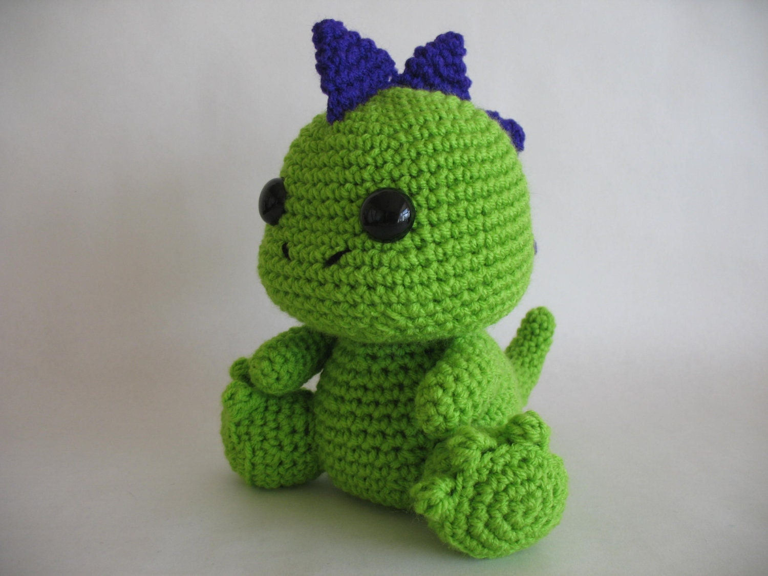 Mini Dinosaur Knitting Pattern : dinos on Pinterest Crochet Dinosaur, Dinosaurs and Crochet Dragon Pattern
