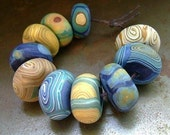 Van Gogh Starry Night Disk Beads - humblebeads