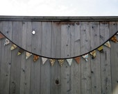 SALE Bunting Flags - Earthy Browns