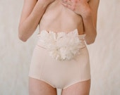 Bridal silk flower belt - Soft and light - Style 138 - Made to Order