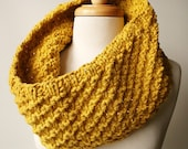 Winter Fashion - Chunky Cowl - Oversized Knit Merino Wool Neckwarmer - TickledPinkKnits