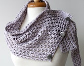 SAMPLE SALE - Women Fashion - Raw Silk Knit Shoulder Wrap / Scarflette - Lilac / Lavender - TickledPinkKnits