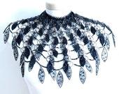 Black Swan (beaded, wirework, metalwork). Necklace - shaul