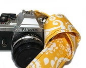 Camera Strap - Golden Yellow Scrolls - SLR, DSLR