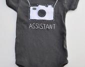 Camera handstitched onesie - amytangerine