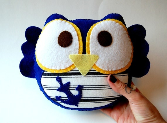Sailor Owl Eco Friendly Plush Stuffed Toy