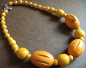 Orange You Happy Wooden Beaded necklace