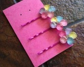Colorful Flowers Bobby Pin Set