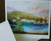Note Card - High Mountains - Lake - Ready for your message - sagewest