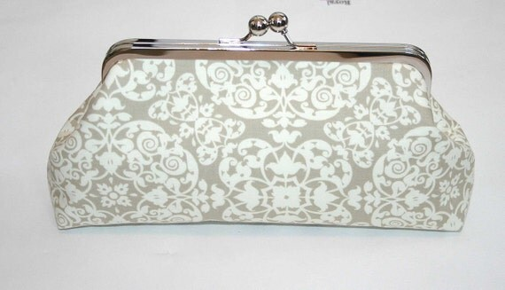 Taupe Ivory Ironworks Bridesmaid Clutch