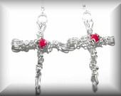 Fervent Love Cross earrings
