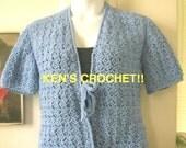 Slanted Shell Stitch V-Neck Sweater-PDF Pattern Only