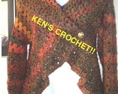 Homespun 'Harvest' Cocoon Sweater-Pattern Only