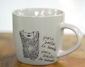 Grey La Bamba Dancing Bear mug