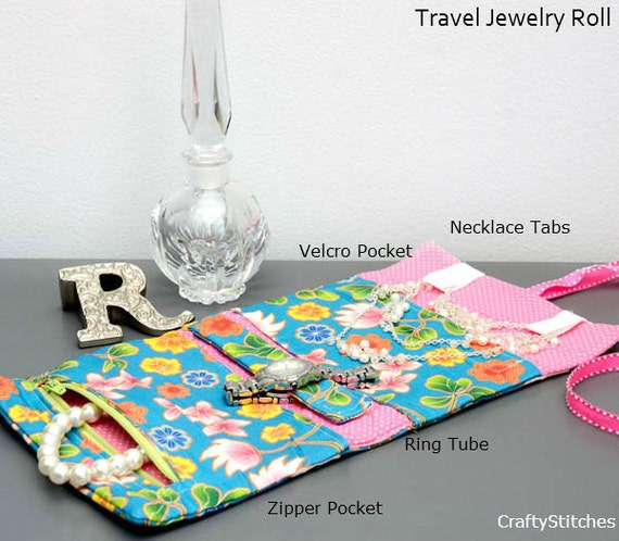 Summer Travel Essential: Travel Jewelry Roll w/Free Shipping