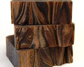 Holiday Sale - VANILLA SPICE Handmade Soap - Vanilla Cinnamon & Clove Scented Soap - Dark Brown Swirled Vegan Soap - BLSoaps