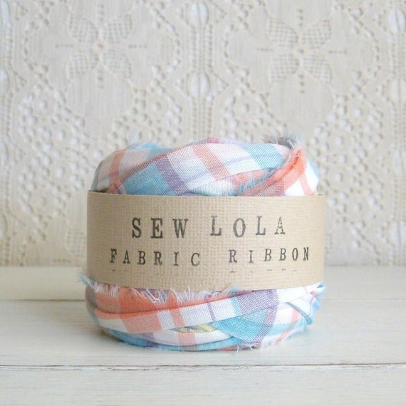 fabric ribbon - lovely pastels