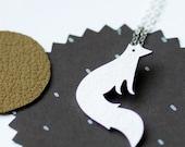 Vixen Fox Necklace, Modern Sterling Silver pendant. - Joannarutter