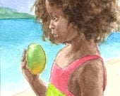 Child with Mango - Drusilla
