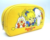 Rainbow Brite and Pals 80s Cartoon Cosmetic Bag - Pigeons