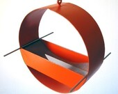 Charm Modern Bird Feeder in Orange - joepapendick
