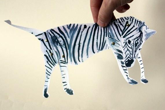 Zebra Articulated Paper Doll Kit