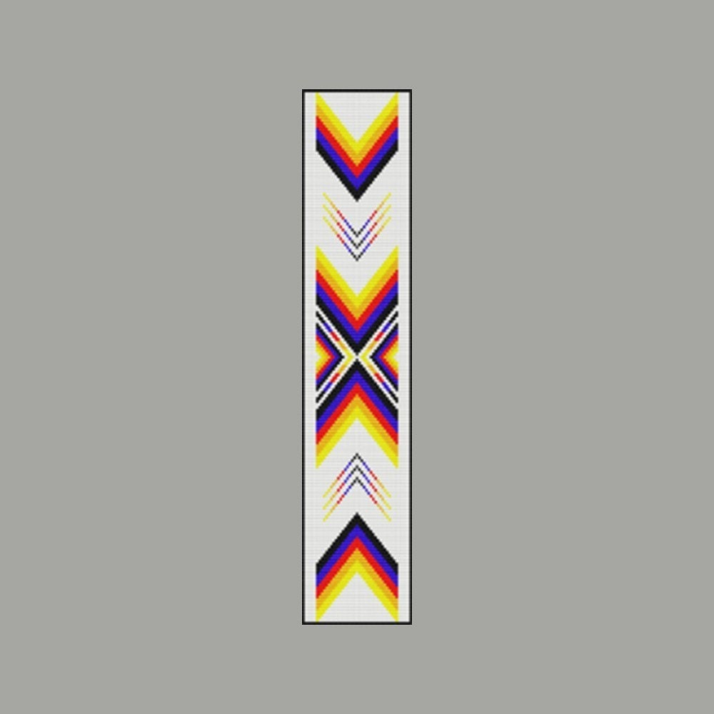 Native American Peyote Beading Patterns http://www.etsy.com/listing/30463847/native-american-color-ribbon-2-bead