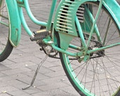 30% OFF SALE Teal Bicycle Home Decor - 5x5 inch Photograph - ara133photography