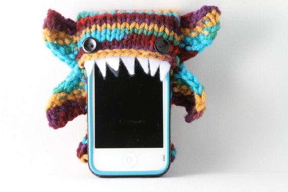 Phone Goblin in Multi-Color- Smart phone cozy