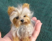 Your Pet in Miniature / Custom handmade Dog Portrait  / Cute / Poseable Art Sculpture - GourmetFelted