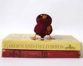 Autumn Bird Red Rust Lesser Spotted Tweet - feltmeupdesigns