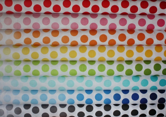 Ombre Dots Fabric by Riley Blake Designs-  Fat Quarter Bundle, 8 total