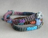 Textile Necklace -  fiber necklace  versatile adjustable multicolor - Birribe