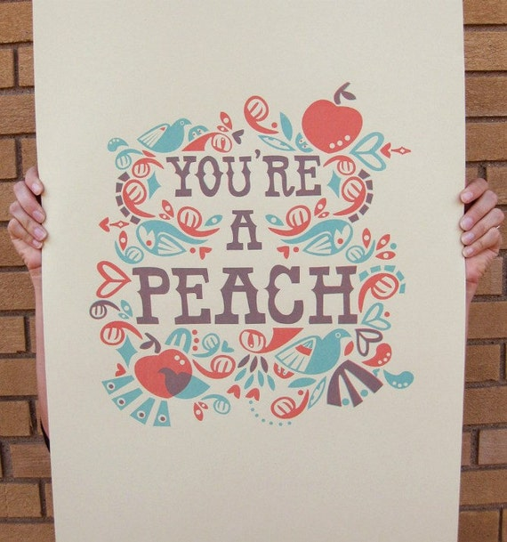 You're a Peach print