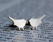 Crouching Bird Silhouette Earrings - ShereDesign
